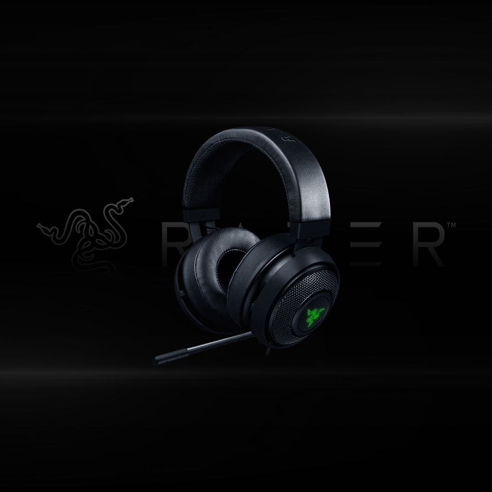 Buy Razer Kraken 7.1 V2 Digital Gaming Headset Black Oval Ear Cushions in Bangalore, india